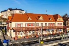 Järnvägsstation - Uhersky Brod, Tjeckien Royaltyfri Bild