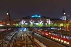 Järnvägsstationen i Hamburg, Tyskland Arkivfoton