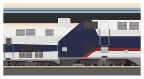 Järnvägsstationillustration Royaltyfri Illustrationer