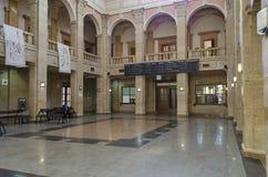 Järnvägsstationliststad - inre korridor arkivbild