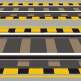 Järnvägsstationplattform Vektor Illustrationer