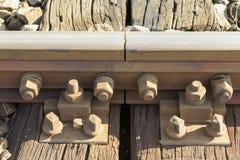 Järnvägstångkoppling Arkivfoto