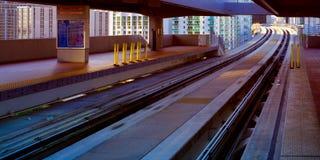 Järnvägstation fotografering för bildbyråer