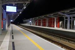 Järnvägstation i flygplats av Gdansk Royaltyfri Bild