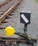 järnvägströmbrytare Arkivbild