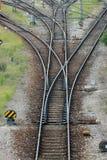 järnvägströmbrytare Arkivfoto