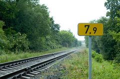 järnvägtecken royaltyfri bild