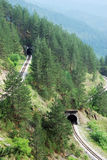 järnvägtunneler Arkivbild