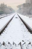 järnvägvinter Fotografering för Bildbyråer