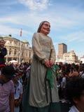 Jättar och stora huvud i Bilbao Royaltyfri Foto