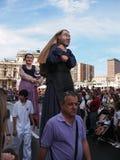 Jättar och stora huvud i Bilbao Royaltyfri Fotografi