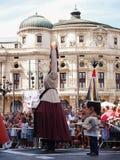 Jättar och stora huvud i Bilbao Royaltyfri Bild