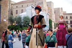 Jättar ståtar i Barcelona La Mercè Festival 2013 Royaltyfri Bild