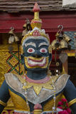 Jättarna på Wat Phra That Doi Kham Chiang Mai, Thailand Fotografering för Bildbyråer