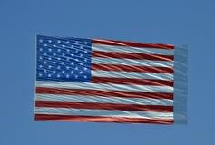 Jätte- amerikanska flaggan Royaltyfri Foto