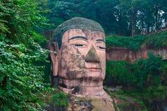 Jätte- Buddha av Leshan Arkivbilder