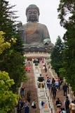 Jätte buddha i Hong Kong Royaltyfri Fotografi
