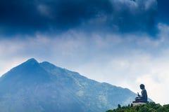 Jätte Buddha/Po Lin Monastery i Hong Kong Royaltyfri Foto