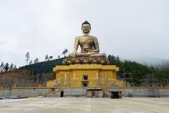 Jätte- Buddha, Thimphu, Bhutan Arkivfoton