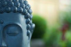 Jätte- Buddhahuvudskulptur Arkivbilder