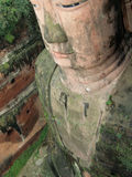 Jätte- Buddhastaty Leshan, Kina Arkivbilder