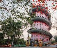 Jätte Dragon Temple Wat Samphran i Thailand royaltyfri fotografi
