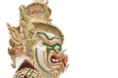 Jätte eller Yaksha på Wat Phra Kaew i Bangkok, Thailand Royaltyfria Foton