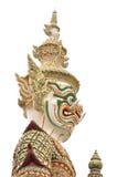 Jätte eller Yaksha på Wat Phra Kaew i Bangkok, Thailand Fotografering för Bildbyråer
