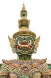 Jätte eller Yaksha på Wat Phra Kaew i Bangkok, Thailand Arkivfoton