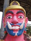 Jätte- framme av den thailändska templet för port, Hadyai, Thailand Royaltyfria Foton