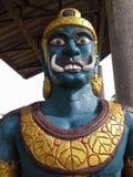 Jätte- framme av den thailändska templet för port, Hadyai, Thailand Arkivbilder
