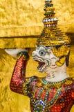 Jätte- framsida i den storslagna slotten, Thailand Royaltyfri Fotografi