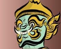 Jätte- framsida i Thailand stil Royaltyfri Fotografi