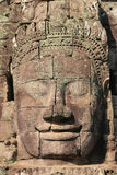 Jätte- framsida på den Bayon templet, Angkor Wat, Cambodja Fotografering för Bildbyråer