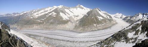 Jätte- glaciär Arkivbilder