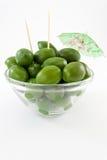 jätte- gröna olivgrön för bunke arkivbilder