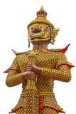 Jätte- guardstand på tempelet av Thailand Royaltyfria Foton