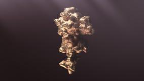Jätte- guld- klump Royaltyfria Bilder