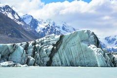 Jätte- isberg från den Tasman glaciären Arkivbild