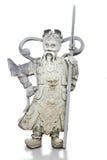 Jätte- kinesiska statyer på Wat Pho. Arkivbilder
