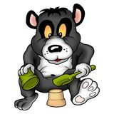 jätte- mudpandapie stock illustrationer