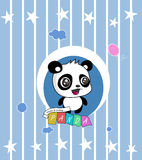 Jätte Panda Cartoon Background Royaltyfri Fotografi