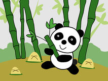 Jätte Panda Cartoon Vector Illustration Royaltyfri Bild