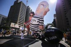 Jätte- pro-impeachmentballonger Fotografering för Bildbyråer