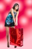 Jätte- shopping för jul Arkivbild