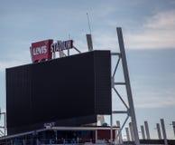 Jätte- skärm för Levi's stadion Arkivbild
