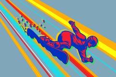 Jätte- slalomsnowboard, vintersportar Arkivfoton