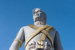 Jätte- staty av Michael Jackson på mässan i Lausanne, Switzer arkivfoton