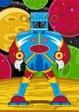 Jätte- tecknad filmMecha robot royaltyfri illustrationer