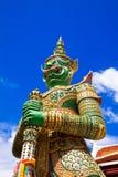 Jätte- tempelstaty Fotografering för Bildbyråer